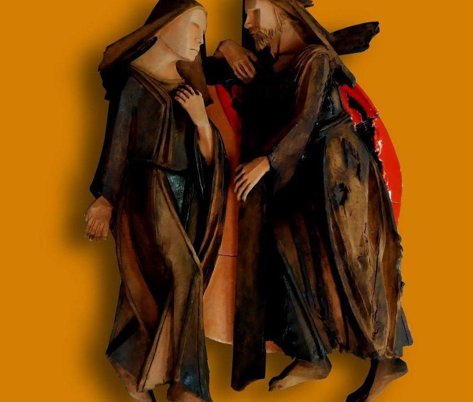 A Castelli la Via Crucis in ceramica del maestro Di Simone